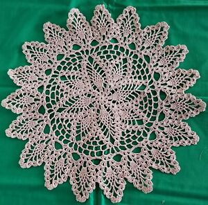 """Round Pineapple Hand Crochet Doily 16"""" - **NEW** - Lone Star Lace"""