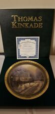 "Thomas Kinkade 1999 ""A Holiday Gathering"" 1st Issue Plate Nib Bradford Gift"
