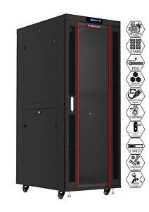 "Server Rack 42U Deep 19"" IT Network Data Rack Cabinet Enclosure"