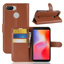 For Xiaomi Redmi 6 Pro 6A PU Leather Wallet Stand Card Slot Flip Case Cover
