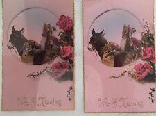 "2 Cartes postales dite au bromure ""vive St-Nicolas """