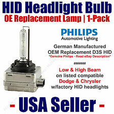 OE HID Headlight Hi/Low GENUINE German PHILIPS Select Dodge & Chrysler D3S