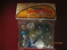 Vintage BAG OF WHIZZER Marbles (12 ASSORTED) In Orginal Package FREE SHIPPING