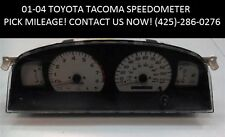 01-04 Toyota Tacoma Instrument Gauge Cluster Tach Speedometer *PICK MILEAGE! OEM