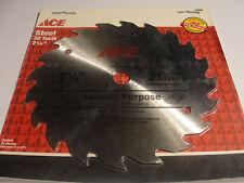 """Ace 7-1/4"""" Steel Saw Blade (23566) 20 Steel Teeth"""