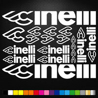 Cinelli Vinyl Decals Stickers Sheet Bike Frame Cycle Cycling Bicycle Mtb Road