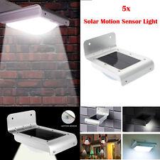 5X 16 LED Solar Power Motion Sensor Garden Security Outdoor Waterproof Light
