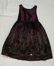 Luna Luna Copenhagen 3 3T Dress Christmas Holiday Party Burgundy Eggplant EUC