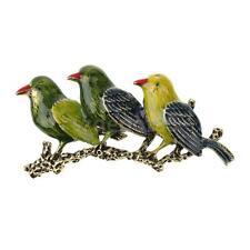 Vintage 3 Swallow Birds Brooch Pin Multicolor Enamel Women Men Jewelry