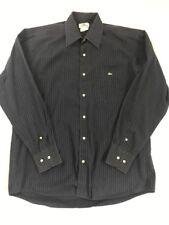 Lacoste Men's Blue Striped Long Sleeve Button Front Shirt Size 39, Medium