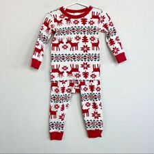 Hanna Andersson Organic Reindeer Long Johns size 85 US 2T