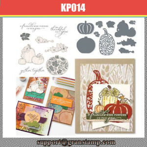 PRETTY PUMPKINS Metal Cutting Dies and Stamps For Scrapbooking
