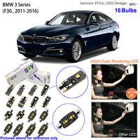 16 Bulbs Deluxe LED Interior Dome Light Kit Xenon White For F30 BMW 3 Series