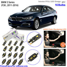 16 Bulbs Deluxe LED Interior Dome Light Kit Xenon White For F30 BMW 3 Series