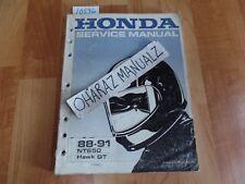 1988 1989 1990 1991 Honda NT650 HAWK GT Service Manual OEM