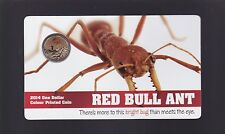 2014 $1 Red Bull Ant Coin coloured One Dollar BRIGHT BUG SERIES Australia