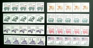 US Stamp plate number coil strips of 5  MNH