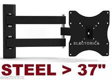 """10-37"""" STEEL LCD LED TV WALL MOUNT BRACKET TILT SWIVEL 3D HD 27 21 19 24 30 35"""