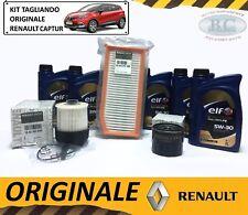 KIT TAGLIANDO OLIO ELF 5W30 + 3 FILTRI ORIGINALE RENAULT CAPTUR 1.5 DCI DAL 2013