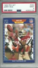 1989 Pro Set football card #383 Jerry Rice, San Francisco 49ers graded PSA 9