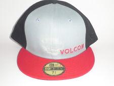 Volcom New Era 59Fifty CHOSEN Hat Black Red Blue 7 1/2 ($35) Cap Skate Surf Snow