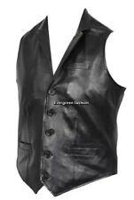 Mens CLASSIC designe 3530 Black Fashion Real Lambskin Napa Soft Leather Waiscoat