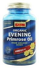Health From The Sun - Evening Primrose Oil From Organic Seeds 1300 mg. - 60