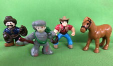 Lincoln Logs Sheriff Cowboy Bill Trapper Horse Replacement Figures / Add-On 4 Pc