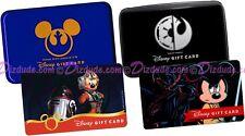 SET of 2 Disney Star Wars Weekends LE Gift Card & Holder Cases REBELS & GALACTIC