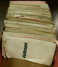 Lot of 48 Vtg Fellows Gear Shaper Machine Tool Contacts & Client Detail Notepads