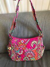 Vera Bradley Pink Swirls On The Go Shoulder Bag Hobo Purse-- #12469-179