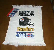 STEELERS SUPER BOWL XL CHAMPIONS WHITE TOWEL