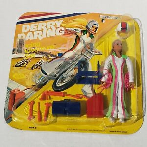 vintage1975 Ideal DERRY DARING racing adventure Set in sealed Card EVEL KNIEVEL