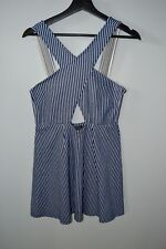 Topshop Blue and White Cut Out Summer Sun Dress in US size 10