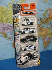 MATCHBOX POLICE RESCUE NYPD NEW YORK POLICE DEPARTMENT 5 PACK CARS **BRAND NEW**