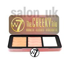 W7 THE CHEEKY TRIO Bronzer, Blusher, Highlighter Palette Brand New