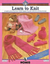 Learn to Knit NOMIS Left & Right Hand Knitting Step by Step Illustrations NEW
