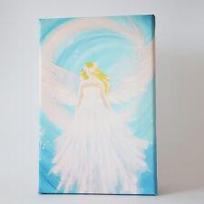 """Wandbild mit Engel """"Kosmischer Schutzengel"""" Spirituelle Kunst Bilder Reiki Deko"""