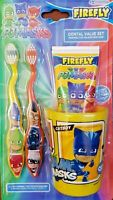 Children Gift PJ Macks Toothbrush Toothpaste Beaker Dental pack Set Tooth Brush