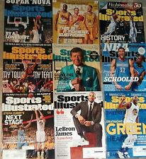 Sports illustrated magazine lot basketball 2015-2016 lot Lebron Curry Green