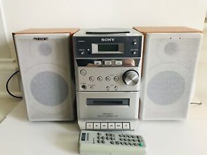Sony HCD-EP313 Micro Hi-Fi Component Stereo System CD Cassette Tape Remote