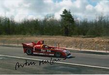 Arturo Merzario mano firmato 12x8 FOTO Le Mans 2.