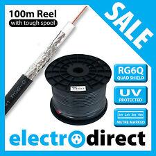 RG6Q 100m Quad Shield Coax Cable Coaxial Antenna 75ohm RG6 TV Television Video