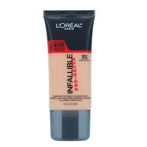 L'Oreal Paris Infallible Pro-Matte Liquid Longwear Foundation Shell Beige 1 oz