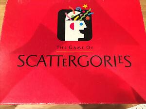 Scattergories Board Game - Complete Original Vintage 1993 Hasbro Used