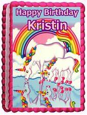 LISA FRANK UNICORN EDIBLE CAKE TOPPER BIRTHDAY DECORATIONS