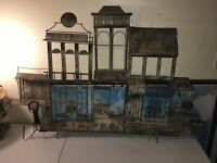 Curtis Jere Mid-Century Brutalist Wall-Mounted Mixed Metal Sculpture Old West