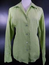 Beautiful Women's Large Rockies Green Tones Long Sleeve Fitted Button Blouse GUC