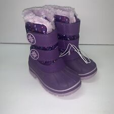 Cat and Jack Girls Snow Boots Rain Boots Size 5/6 Small Purple New