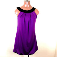 Body Central Womens Sleeveless Halter Dress Size Small Purple/ Black Stretch